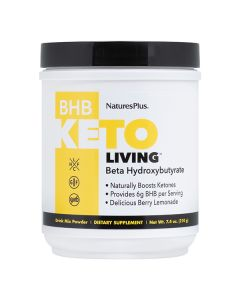 Nature's Plus KetoLiving BHB Beta Hydroxybutyrate Berry Lemonade Drink Mix powder 210 gr