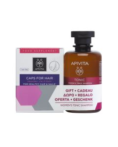 Apivita Caps for Hair 30 caps & Hair Care Shampoo Women's Tonic 250 ml