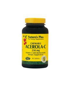 Nature's Plus Chewable Acerola-C Complex 250 mg w/bioflavonoids 90 chewable tabs