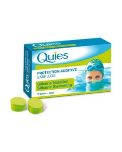 Quies Protection Auditive Earplugs Silicone Swimming 3 pairs