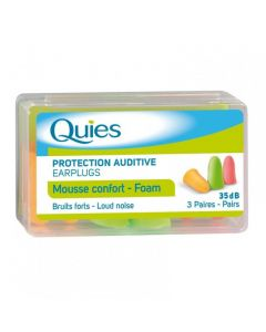 Quies Protection Auditive Earplugs Mousse Confort - Αφρώδη 3 pairs