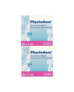 Physiodose Φυσιολογικός Ορός Αποστειρωμένος 30 αμπούλες x 5 ml 2 τμχ