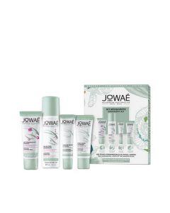 Jowae Kit Decouverte Lait Demaquillant Apaisant 30 ml & Eau de Soin Hydratante 50 ml & Concentre Jeunesse Anti-Taches 10 ml & Creme Legere Hydratante 15 ml