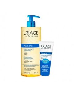 Uriage Xemose Cleansing Soothing Oil 500 ml & Xemose Anti-Itch Soothing Oil Balm 50 ml