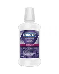 Oral-B Mouthwash 3D White Luxe Glamour Shine 500 ml