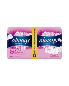 Always Sensitive Ultra Super Plus Pads with wings 16 pcs