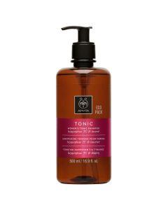 Apivita Hair Care Shampoo Women's Tonic Hippophae TC & laurel Eco Pack 500 ml
