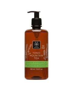 Apivita Tonic Mountain Tea Shower gel with essential oils Eco Pack 500 ml