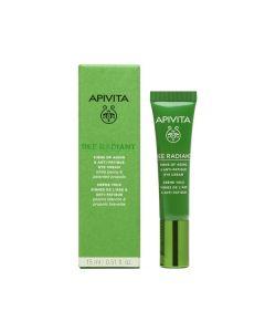 Apivita Bee Radiant Κρέμα Ματιών για Σημάδια Γήρανσης & Ξεκούραστη Όψη 15 ml