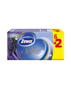 Zewa Softis Χαρτομάντηλα 6 + 2 Δώρο