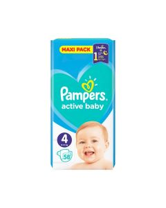 Pampers Active Baby Maxi no4 (9-14 kg) 58 nappies