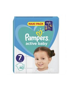 Pampers Active Baby Maxi no7 (15+ kg) 40 nappies