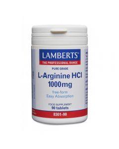 Lamberts L-Arginine HCl 1000 mg 90 tabs