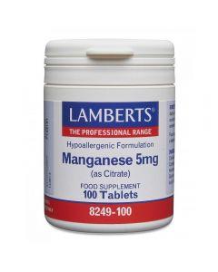 Lamberts Manganese 5 mg (amino acid chelate) 100 caps
