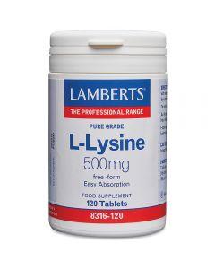 Lamberts L-Lysine  HCI 500 mg  90 tabs