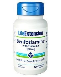 Life Extension Benfotiamine with Thiamine 100 mg 120 caps