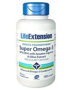 Life Extension Super Omega 3 EPA/DHA Sesame Lignans-Olive 120 softgels