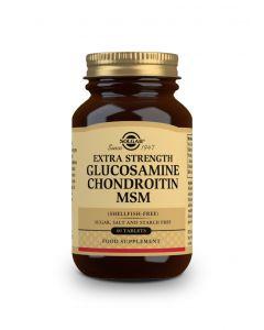 Solgar Extra Strength Glucosamine Chondroitin MSM shellfish-free 60 tabs