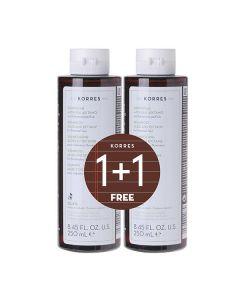 Korres Aloe & Dittany Shampoo normal hair 250 ml 1+1 Free