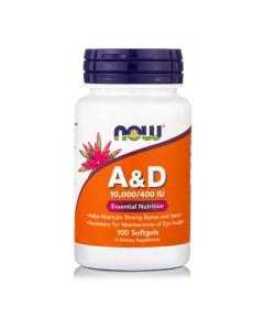 Now Vitamin A & D (10000 IU/400 IU) 100 softgels