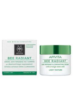 Apivita Bee Radiant Κρέμα αντιγήρανσης & λάμψης ελαφριάς υφής 50 ml