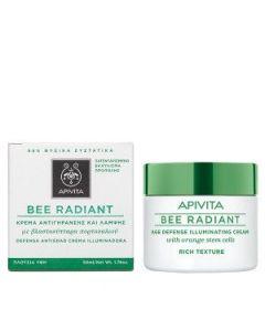 Apivita Bee Radiant Κρέμα αντιγήρανσης & λάμψης πλούσιας υφής 50 ml