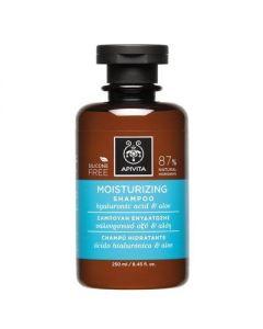 Apivita Hair Care Shampoo Moisturizing hyaluronic acid & aloe 250 ml