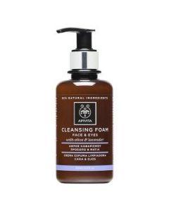 Apivita Cleansing Foam face & eyes olive & lavender 200 ml