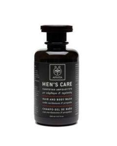 Apivita Men's Care Σαμπουάν-Αφρόλουτρο κάρδαμο & πρόπολη 250 ml