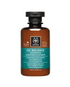 Apivita Hair Care Shampoo Oil Balance peppermint & propolis 250 ml