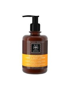 Apivita Moisturizing Hand & Body Lotion grapefruit & honey 300 ml