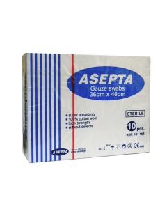 Asepta Gauze sterile 10 pcs 36 x 40 cm