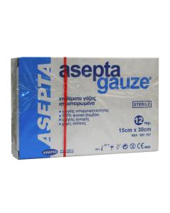 Asepta Gauze sterile 12 pcs 15 x 30 cm