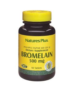 Nature's Plus Bromelain 500 mg Pineapple Enzyme 600 GDU 60 tabs