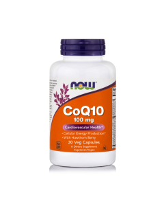 Now CoQ10 100 mg w/Hawthorn Berry 30 Vcaps