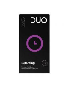 DUO Retarding Condom - Retardant 6pcs