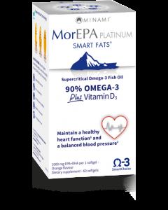 Minami MorEPA Platinum 90% Omega 3 Plus Vitamin D3 60 softgels