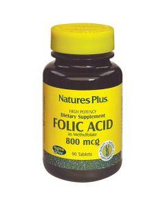 Nature's Plus Folic Acid 800 mcg 90 tabs