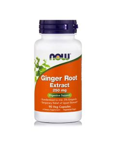 Now Ginger Root Extract 250 mg 90 Vcaps