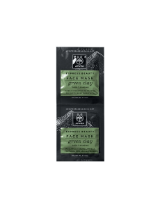 Apivita Express Beauty Face mask Green clay Deep cleansing 2 x 8 ml