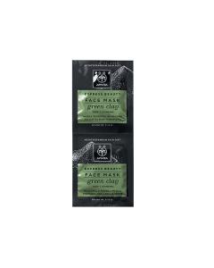Apivita Express Beauty Face mask Green clay Deep cleansing 2 x 8 ml