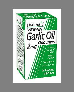 Health Aid Garlic Oil Odourless 2 mg 30 vegan caps