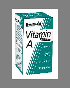 Health Aid Vitamin A 5000 IU 100 caps