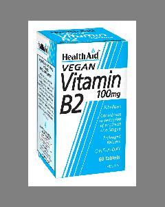 Health Aid Vitamin B2 (Riboflavin) 100mg - Prolonged Release 60 tabs