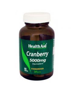 Health Aid Cranberry 5000 mg standardised 60 tabs