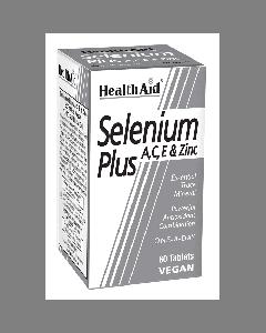 Health Aid Selenium Plus (Vitamins A, C, E & Zinc) 60 tabs