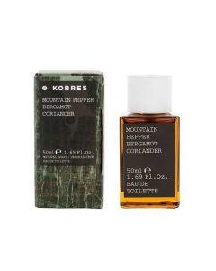 Korres Mountain Pepper Bergamot  Coriander Άρωμα Ανδρικό 50 ml