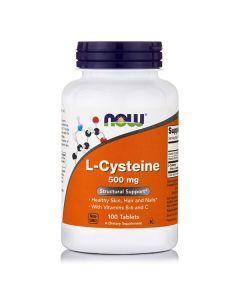 Now L-Cysteine 500 mg w/vit B6 & C 100 tabs