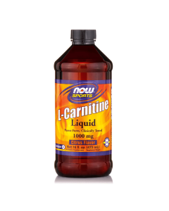 Now Sports L-Carnitine Liquid 1000 mg citrus flavour 473 ml
