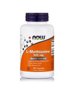 Now L-Methionine 500 mg 100 caps